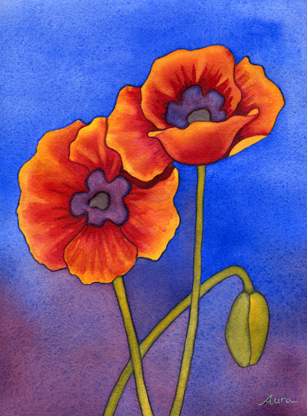 freel flower watercolor painting lesson