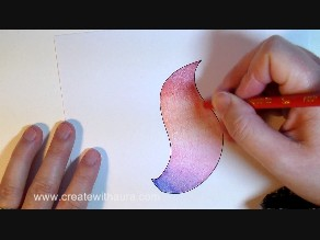 blending colored pencils with color gradation