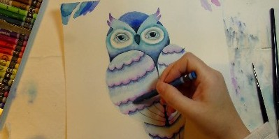 Online Art Course: Paint a Whimsical Owl in Mixed Media
